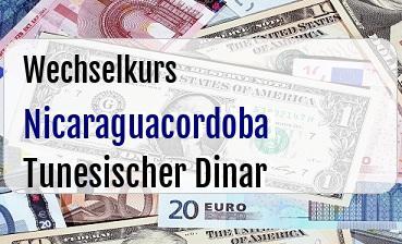 Nicaraguacordoba in Tunesischer Dinar