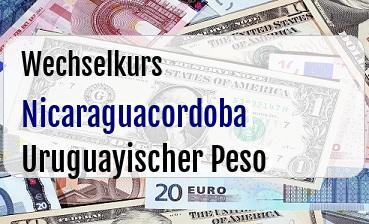 Nicaraguacordoba in Uruguayischer Peso