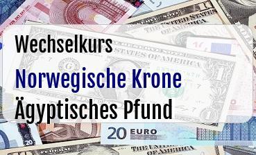 Norwegische Krone in Ägyptisches Pfund