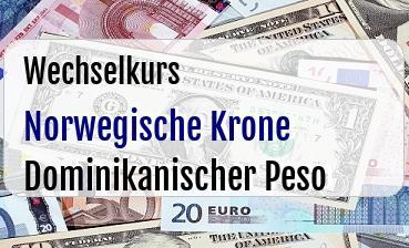 Norwegische Krone in Dominikanischer Peso