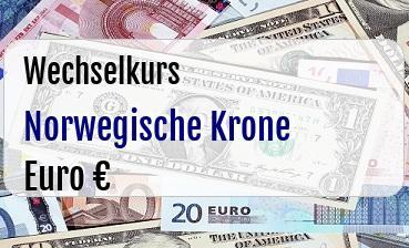 Norwegische Krone in Euro