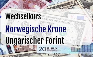 Norwegische Krone in Ungarischer Forint