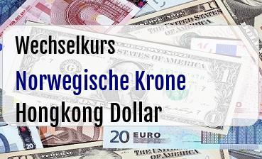 Norwegische Krone in Hongkong Dollar