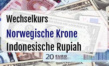Norwegische Krone in Indonesische Rupiah