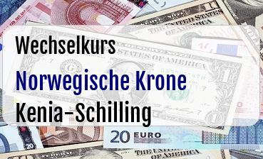 Norwegische Krone in Kenia-Schilling