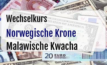 Norwegische Krone in Malawische Kwacha