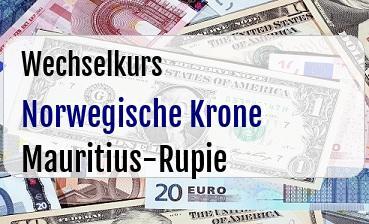 Norwegische Krone in Mauritius-Rupie