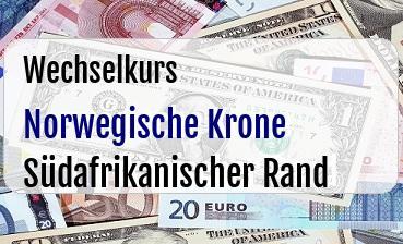 Norwegische Krone in Südafrikanischer Rand