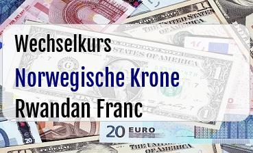 Norwegische Krone in Rwandan Franc