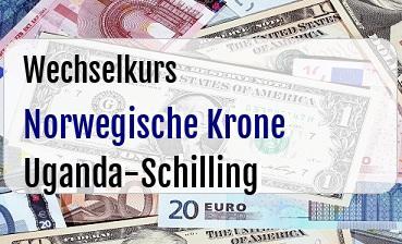 Norwegische Krone in Uganda-Schilling