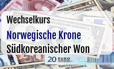 Norwegische Krone in Südkoreanischer Won