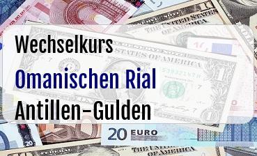 Omanischen Rial in Antillen-Gulden