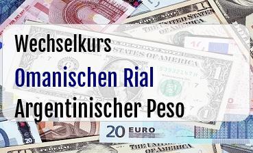 Omanischen Rial in Argentinischer Peso