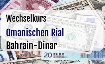 Omanischen Rial in Bahrain-Dinar