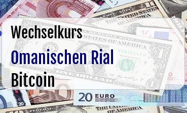 Omanischen Rial in Bitcoin