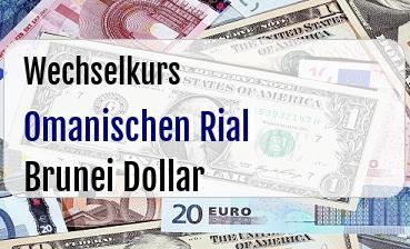 Omanischen Rial in Brunei Dollar