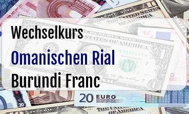 Omanischen Rial in Burundi Franc