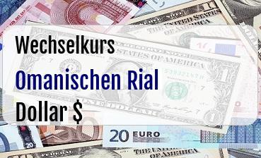 Omanischen Rial in US Dollar