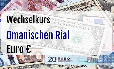 Omanischen Rial in Euro