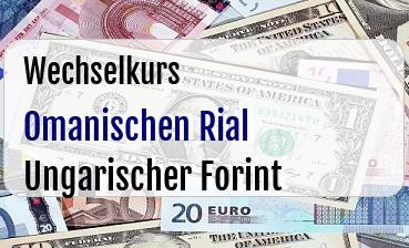 Omanischen Rial in Ungarischer Forint