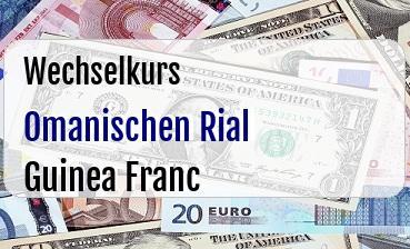 Omanischen Rial in Guinea Franc