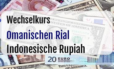 Omanischen Rial in Indonesische Rupiah
