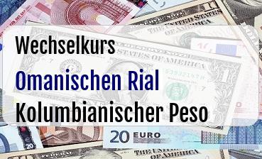 Omanischen Rial in Kolumbianischer Peso
