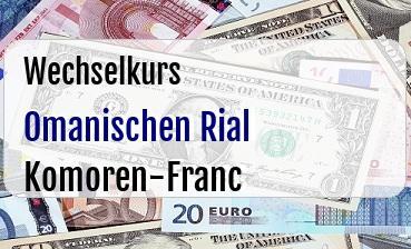 Omanischen Rial in Komoren-Franc