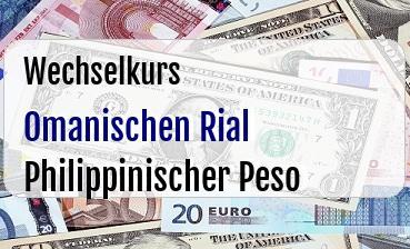 Omanischen Rial in Philippinischer Peso