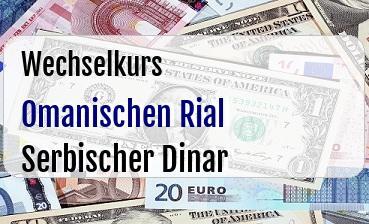Omanischen Rial in Serbischer Dinar