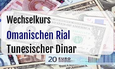 Omanischen Rial in Tunesischer Dinar