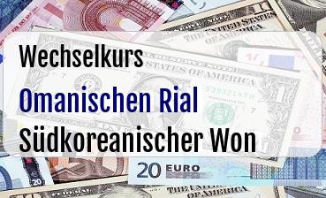 Omanischen Rial in Südkoreanischer Won