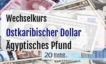 Ostkaribischer Dollar in Ägyptisches Pfund