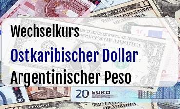 Ostkaribischer Dollar in Argentinischer Peso