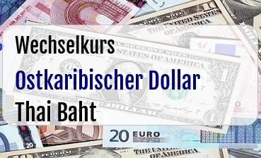 Ostkaribischer Dollar in Thai Baht