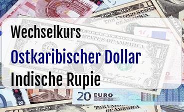 Ostkaribischer Dollar in Indische Rupie