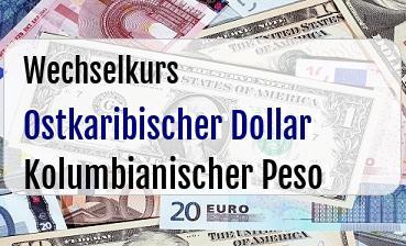 Ostkaribischer Dollar in Kolumbianischer Peso