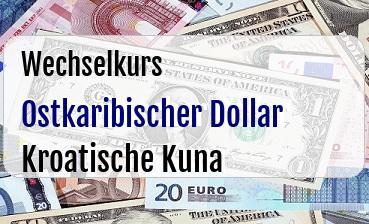 Ostkaribischer Dollar in Kroatische Kuna