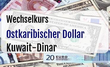 Ostkaribischer Dollar in Kuwait-Dinar