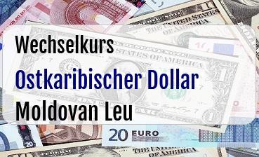 Ostkaribischer Dollar in Moldovan Leu