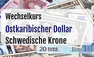 Ostkaribischer Dollar in Schwedische Krone