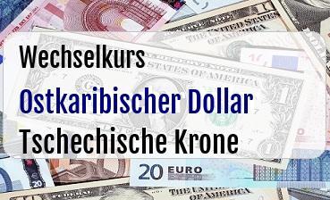 Ostkaribischer Dollar in Tschechische Krone