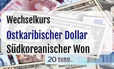 Ostkaribischer Dollar in Südkoreanischer Won