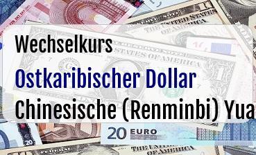 Ostkaribischer Dollar in Chinesische (Renminbi) Yuan