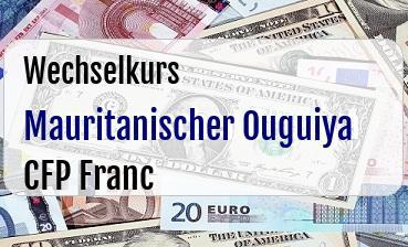 Mauritanischer Ouguiya in CFP Franc