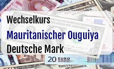 Mauritanischer Ouguiya in Deutsche Mark