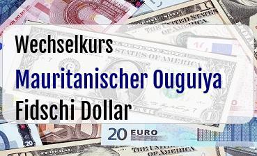 Mauritanischer Ouguiya in Fidschi Dollar