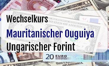 Mauritanischer Ouguiya in Ungarischer Forint