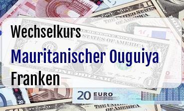 Mauritanischer Ouguiya in Schweizer Franken