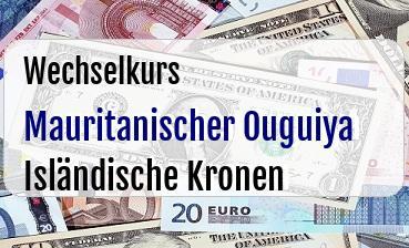 Mauritanischer Ouguiya in Isländische Kronen